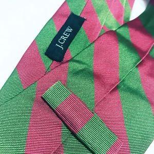 RARE! Pink & Green Striped Tie | J. Crew